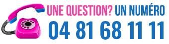 Nous contacter au 04 81 68 11 11